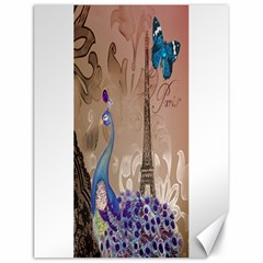 Modern Butterfly  Floral Paris Eiffel Tower Decor Canvas 18  X 24  (unframed) by chicelegantboutique