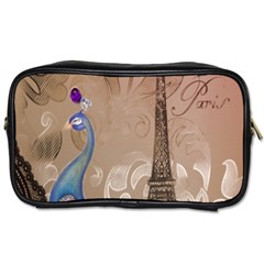 Modern Butterfly  Floral Paris Eiffel Tower Decor Travel Toiletry Bag (one Side) by chicelegantboutique