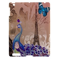 Modern Butterfly  Floral Paris Eiffel Tower Decor Apple Ipad 3/4 Hardshell Case by chicelegantboutique