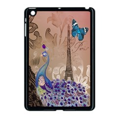 Modern Butterfly  Floral Paris Eiffel Tower Decor Apple Ipad Mini Case (black) by chicelegantboutique