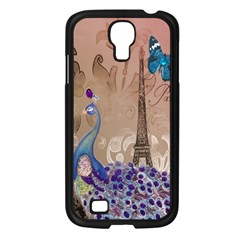 Modern Butterfly  Floral Paris Eiffel Tower Decor Samsung Galaxy S4 I9500/ I9505 (black) by chicelegantboutique