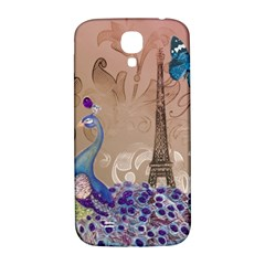 Modern Butterfly  Floral Paris Eiffel Tower Decor Samsung Galaxy S4 I9500/i9505  Hardshell Back Case by chicelegantboutique