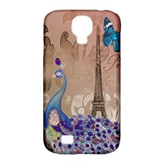 Modern Butterfly  Floral Paris Eiffel Tower Decor Samsung Galaxy S4 Classic Hardshell Case (pc+silicone) by chicelegantboutique