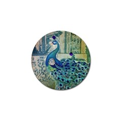 French Scripts Vintage Peacock Floral Paris Decor Golf Ball Marker 4 Pack by chicelegantboutique