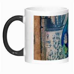 French Scripts Vintage Peacock Floral Paris Decor Morph Mug by chicelegantboutique