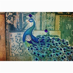 French Scripts Vintage Peacock Floral Paris Decor Canvas 12  X 18  (unframed) by chicelegantboutique