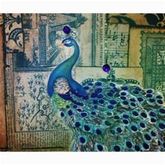 French Scripts Vintage Peacock Floral Paris Decor Canvas 20  X 24  (unframed) by chicelegantboutique