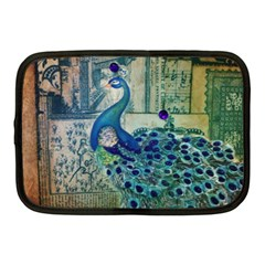 French Scripts Vintage Peacock Floral Paris Decor Netbook Case (medium) by chicelegantboutique