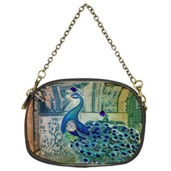 French Scripts Vintage Peacock Floral Paris Decor Chain Purse (two Sided)  by chicelegantboutique
