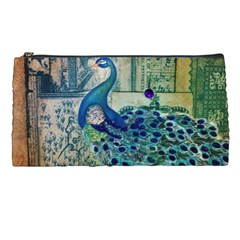 French Scripts Vintage Peacock Floral Paris Decor Pencil Case by chicelegantboutique