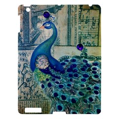 French Scripts Vintage Peacock Floral Paris Decor Apple Ipad 3/4 Hardshell Case by chicelegantboutique