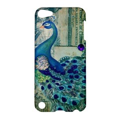 French Scripts Vintage Peacock Floral Paris Decor Apple Ipod Touch 5 Hardshell Case by chicelegantboutique