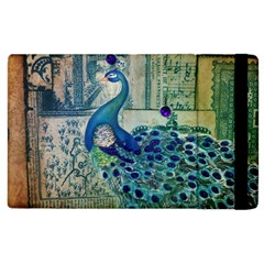 French Scripts Vintage Peacock Floral Paris Decor Apple Ipad 2 Flip Case by chicelegantboutique