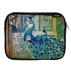 French Scripts Vintage Peacock Floral Paris Decor Apple Ipad 2/3/4 Zipper Case by chicelegantboutique