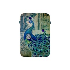 French Scripts Vintage Peacock Floral Paris Decor Apple Ipad Mini Protective Soft Case by chicelegantboutique