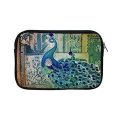 French Scripts Vintage Peacock Floral Paris Decor Apple iPad Mini Zipper Case by chicelegantboutique