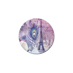 Peacock Feather White Rose Paris Eiffel Tower Golf Ball Marker 10 Pack by chicelegantboutique