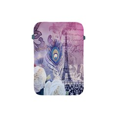 Peacock Feather White Rose Paris Eiffel Tower Apple iPad Mini Protective Soft Case