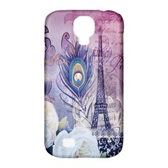 Peacock Feather White Rose Paris Eiffel Tower Samsung Galaxy S4 Classic Hardshell Case (pc+silicone) by chicelegantboutique