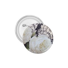 Elegant White Rose Vintage Damask 1 75  Button by chicelegantboutique