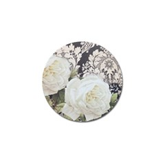 Elegant White Rose Vintage Damask Golf Ball Marker 4 Pack by chicelegantboutique
