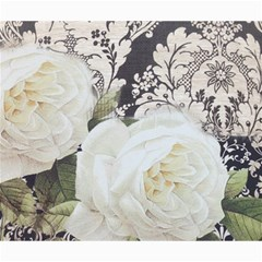 Elegant White Rose Vintage Damask Canvas 20  X 24  (unframed) by chicelegantboutique