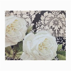 Elegant White Rose Vintage Damask Glasses Cloth (small, Two Sided) by chicelegantboutique