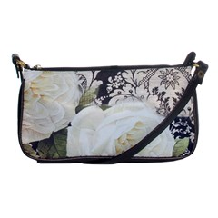 Elegant White Rose Vintage Damask Evening Bag by chicelegantboutique