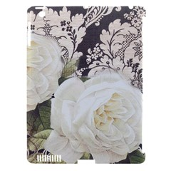 Elegant White Rose Vintage Damask Apple Ipad 3/4 Hardshell Case (compatible With Smart Cover) by chicelegantboutique