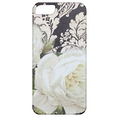 Elegant White Rose Vintage Damask Apple Iphone 5 Classic Hardshell Case by chicelegantboutique