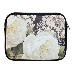 Elegant White Rose Vintage Damask Apple Ipad 2/3/4 Zipper Case by chicelegantboutique