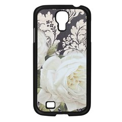 Elegant White Rose Vintage Damask Samsung Galaxy S4 I9500/ I9505 (black) by chicelegantboutique