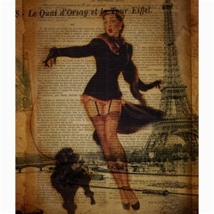 Paris Lady And French Poodle Vintage Newspaper Print Sexy Hot Gil Elvgren Pin Up Girl Paris Eiffel T Canvas 20  X 20  (unframed) by chicelegantboutique