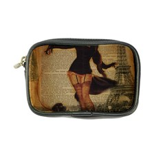 Paris Lady And French Poodle Vintage Newspaper Print Sexy Hot Gil Elvgren Pin Up Girl Paris Eiffel T Coin Purse by chicelegantboutique