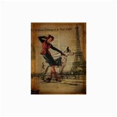 Paris Girl And Great Dane Vintage Newspaper Print Sexy Hot Gil Elvgren Pin Up Girl Paris Eiffel Towe Canvas 24  X 36  (unframed) by chicelegantboutique