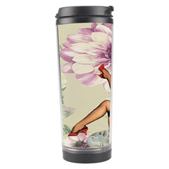 Gil Elvgren Pin Up Girl Purple Flower Fashion Art Travel Tumbler by chicelegantboutique