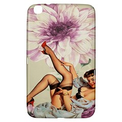 Gil Elvgren Pin Up Girl Purple Flower Fashion Art Samsung Galaxy Tab 3 (8 ) T3100 Hardshell Case  by chicelegantboutique