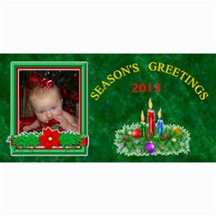 Holiday Photo Card #5, 4x8 By Joy Johns   4  X 8  Photo Cards   Bqmxe4ewsjem   Www Artscow Com 8 x4 Photo Card - 4