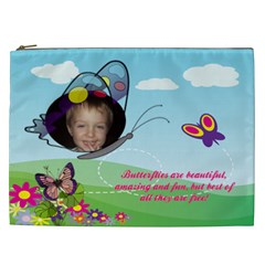 Butterfly Xxl Cosmetic Bag By Joy Johns   Cosmetic Bag (xxl)   S96nlw100s4s   Www Artscow Com Front