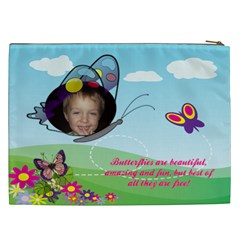 Butterfly Xxl Cosmetic Bag By Joy Johns   Cosmetic Bag (xxl)   S96nlw100s4s   Www Artscow Com Back