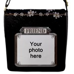 Friend Flap Closure Small Messenger Bag - Flap closure messenger bag (Small)
