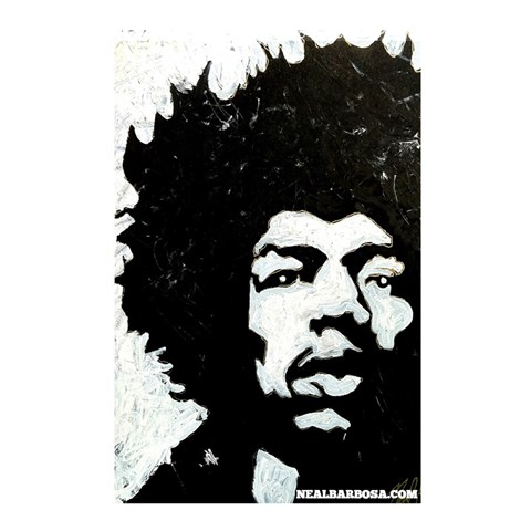 Hendrix No Font By Live Painter   Shower Curtain 48  X 72  (small)   Mn15i1tzfegb   Www Artscow Com 42.18 x64.8 Curtain