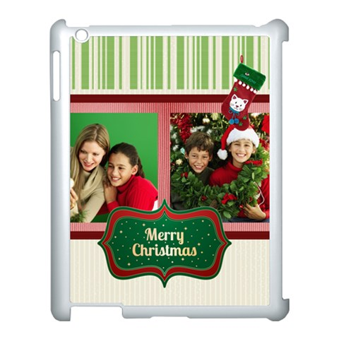 Merry Christmas By Merry Christmas   Apple Ipad 3/4 Case (white)   U3b5yiw2hfme   Www Artscow Com Front