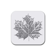 Maple Leaf Rubber Square Coaster (4 pack)