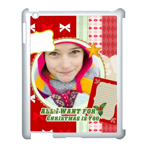 Merry Christmas By Merry Christmas   Apple Ipad 3/4 Case (white)   2nlhdgkd5vkm   Www Artscow Com Front