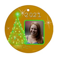 Christmas Tree Round Ornament (2 Sided) By Deborah   Round Ornament (two Sides)   3q9ga3p0yhb3   Www Artscow Com Back