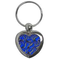 Foolish Movements Blue Key Chain (heart) by ImpressiveMoments