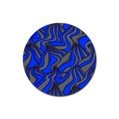 Foolish Movements Blue Drink Coaster (round)