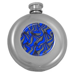 Foolish Movements Blue Hip Flask (round)