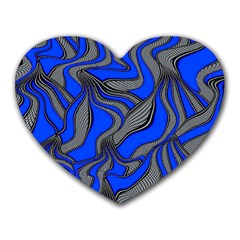 Foolish Movements Blue Mouse Pad (heart) by ImpressiveMoments